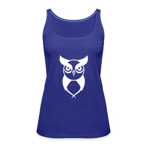 Owl logo white - Women's Premium Tank Top