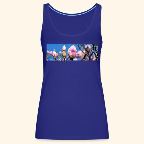 1040659 magnolia hintergrund - Frauen Premium Tank Top