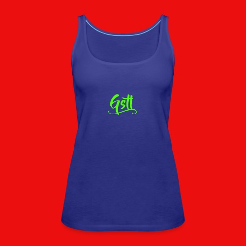 Gstl_Logo_-Green- - Women's Premium Tank Top