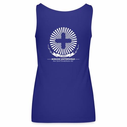 KU Shirt back white - Frauen Premium Tank Top