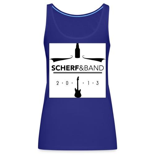 Scherf Sticker Logo sw1 jpg - Frauen Premium Tank Top