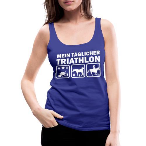 Mein täglicher Triathlon Pferd - Frauen Premium Tank Top