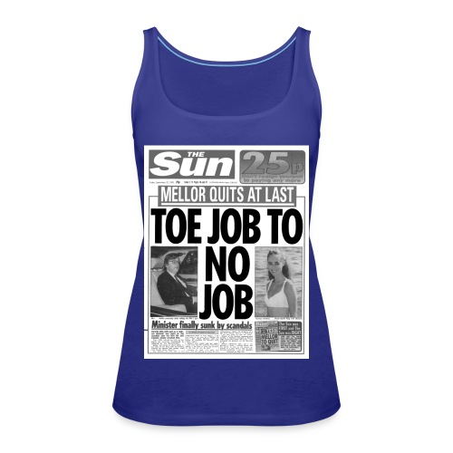 Toe Job to No Job FP BW - Women's Premium Tank Top