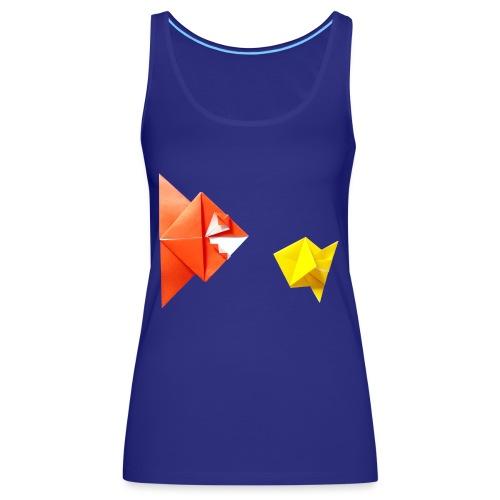 Origami Piranha and Fish - Fish - Pesce - Peixe - Women's Premium Tank Top