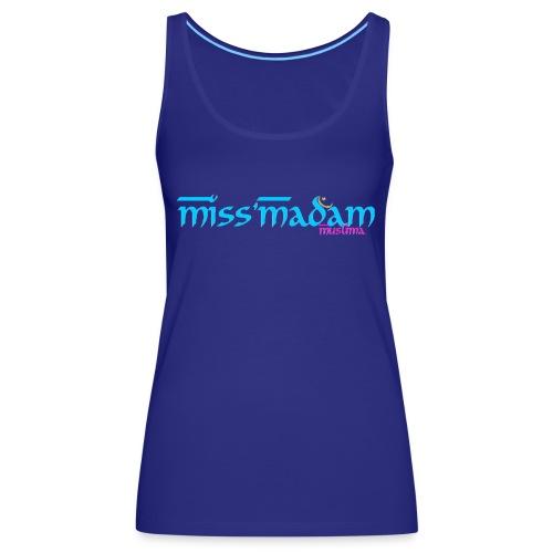 Basic débardeur Miss'Madam blanc - Débardeur Premium Femme