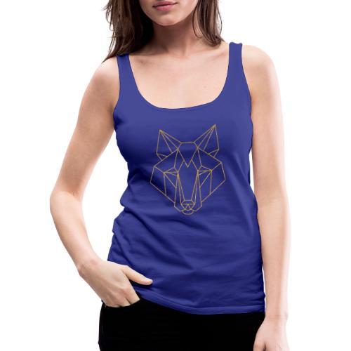 MonkeyShy logo fox couleur or paillettes - Débardeur Premium Femme