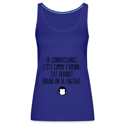 Grande citation et logo Savant Singe - Débardeur Premium Femme
