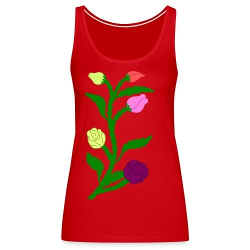 fleurs - Débardeur Premium Femme