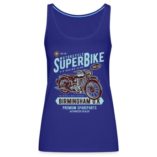 T-Shirt Moto Vintage années 50/60 - Débardeur Premium Femme