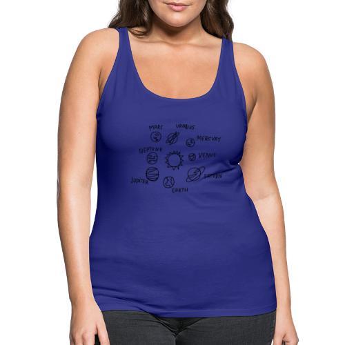 graphic solarsystem - Camiseta de tirantes premium mujer