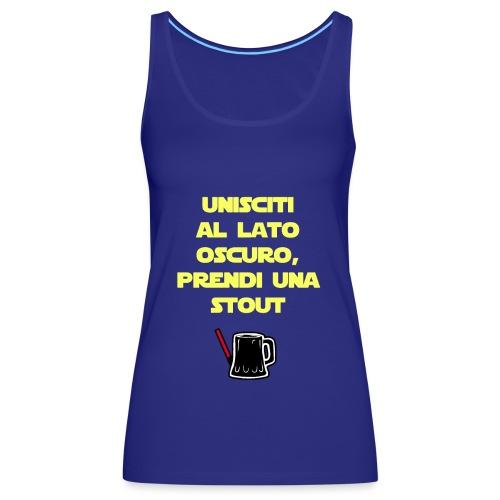 Birra - Il lato oscuro della birra - Giallo - Canotta premium da donna
