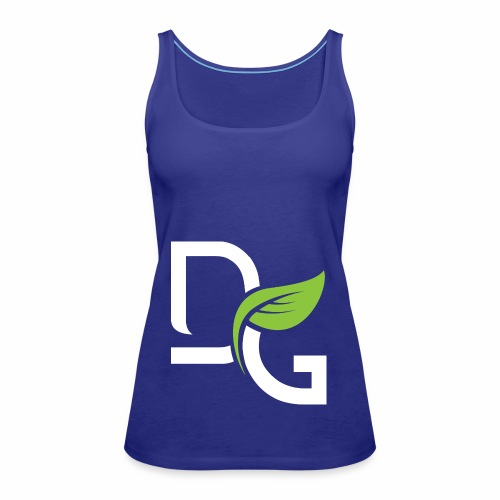 DrGreen Logo Symbol weiss grün - Frauen Premium Tank Top