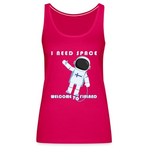 Space - Naisten premium hihaton toppi