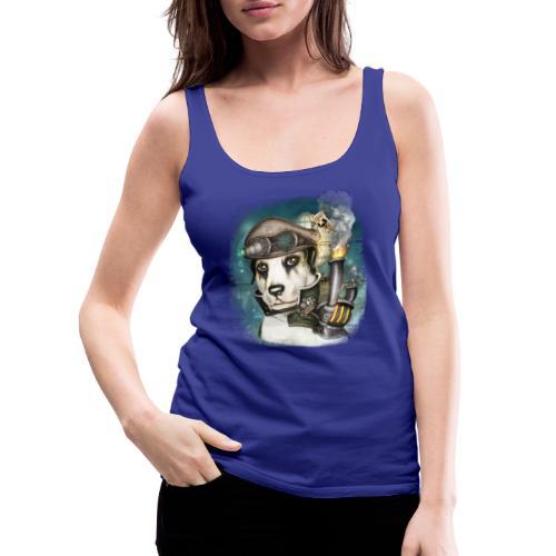 Steampunk Dog #2b - Canotta premium da donna