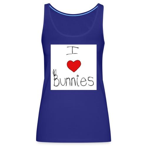 I Love Bunnies - Women's Premium Tank Top