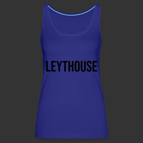 LEYTHOUSE main logo black - Women's Premium Tank Top