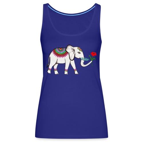 Elefant mit Blume - Frauen Premium Tank Top