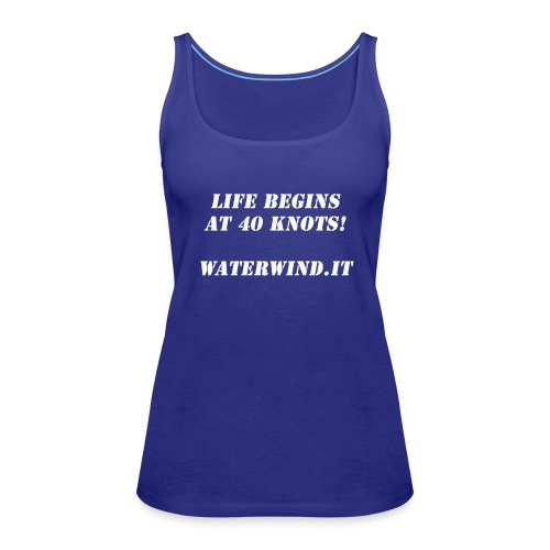 Life Begins bianco - Women's Premium Tank Top