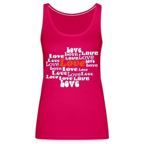 love - Vrouwen Premium tank top