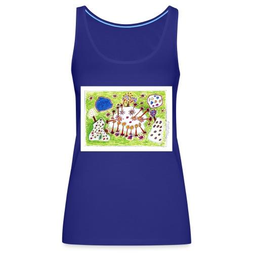 img821.---Popurri salvaje de colores - Camiseta de tirantes premium mujer
