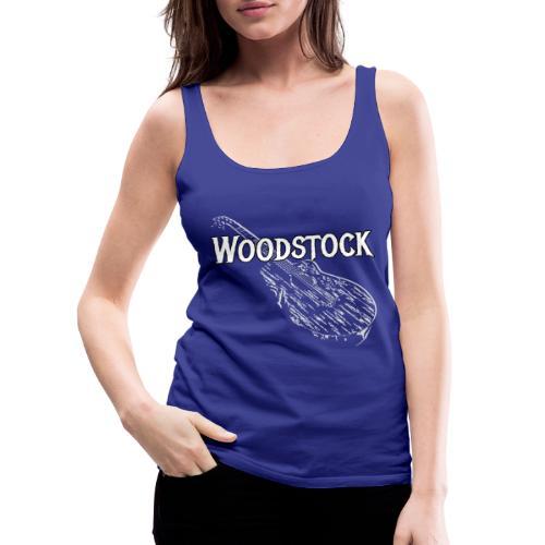 Woodstock Event Gitarre Shirt Geschenk - Frauen Premium Tank Top