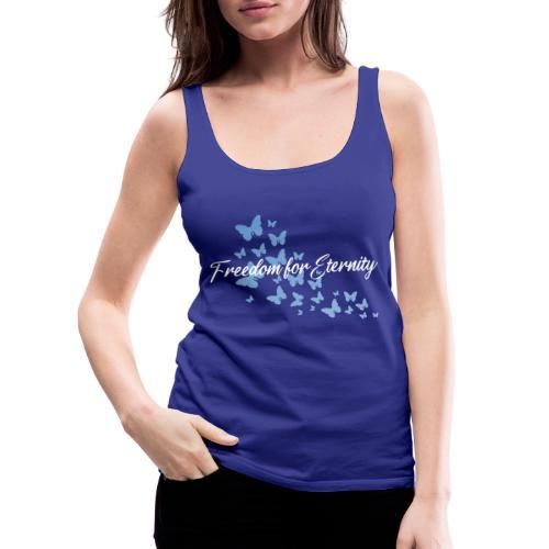 shirt blau text weiss - Frauen Premium Tank Top