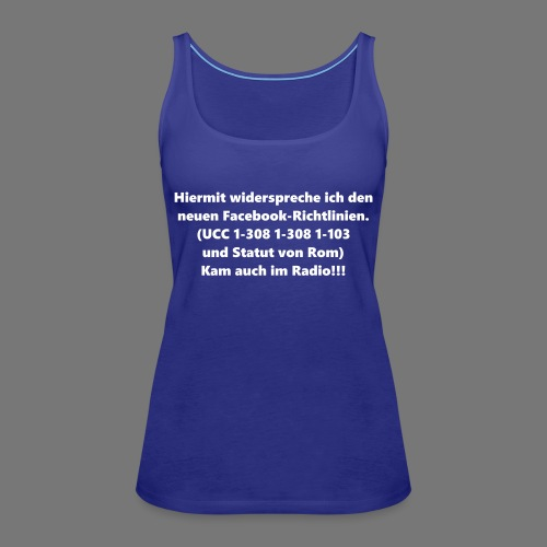 Facebook-AGB - Männer - Frauen Premium Tank Top