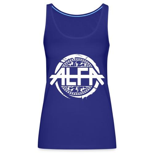 Alfa Logo weiss - Frauen Premium Tank Top