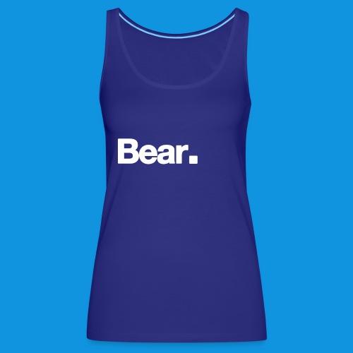 Bear. Retro Bag - Women's Premium Tank Top