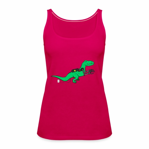 cyborgsaurusprint - Vrouwen Premium tank top