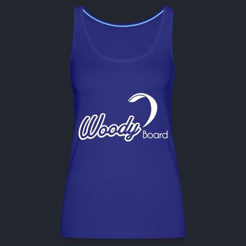 Logo Woodyboard Blanc - Débardeur Premium Femme