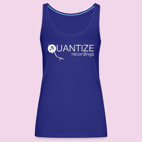 Quantize White Logo - Women's Premium Tank Top