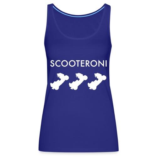 T-shirt SCOOTERONI WHITE - Canotta premium da donna