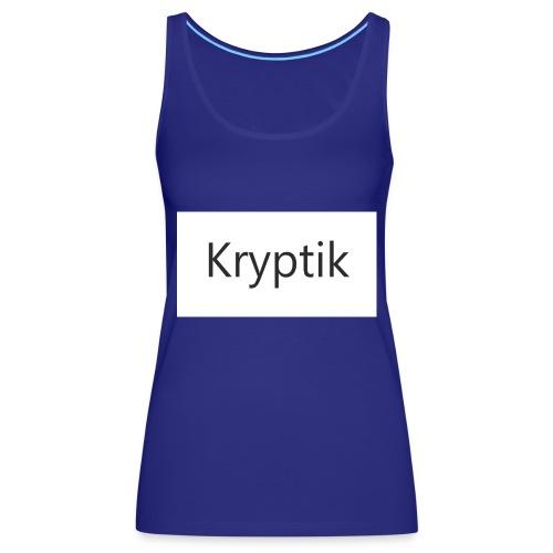 Kryptik Weiß Design - Frauen Premium Tank Top