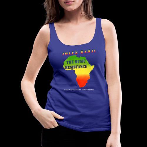 JULES BENJI & MUSIC RESISTANCE africa design - Women's Premium Tank Top