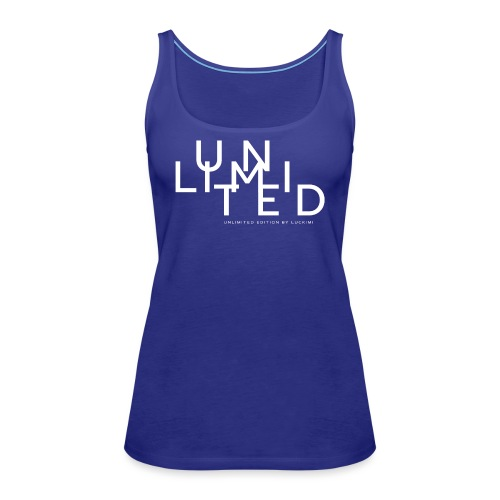 Unlimited white - Women's Premium Tank Top