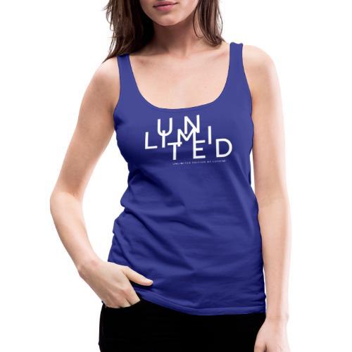 Unlimited white - Women's Premium Tank Top