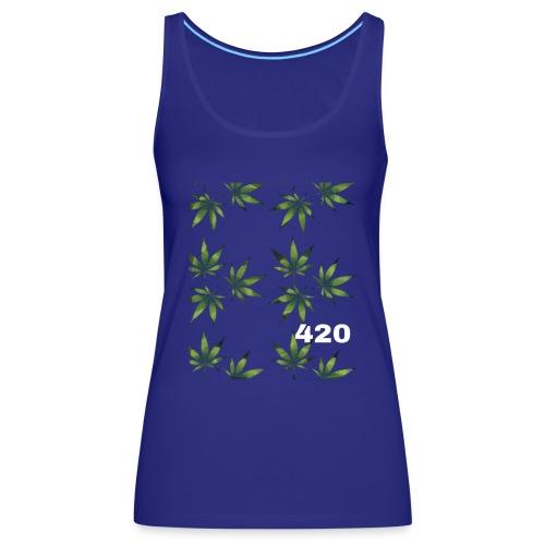 420 Weed Leafs - Frauen Premium Tank Top