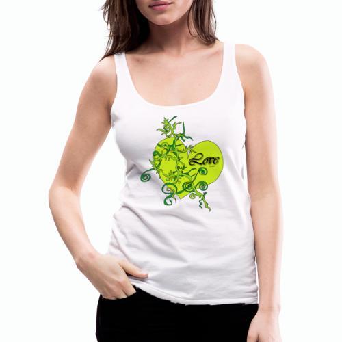 Green Love - Frauen Premium Tank Top