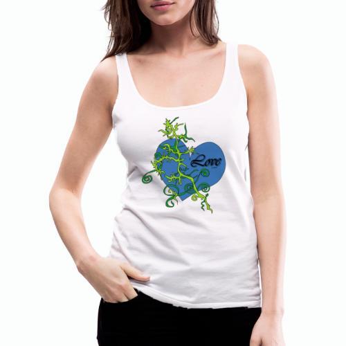 Blue Love - Frauen Premium Tank Top