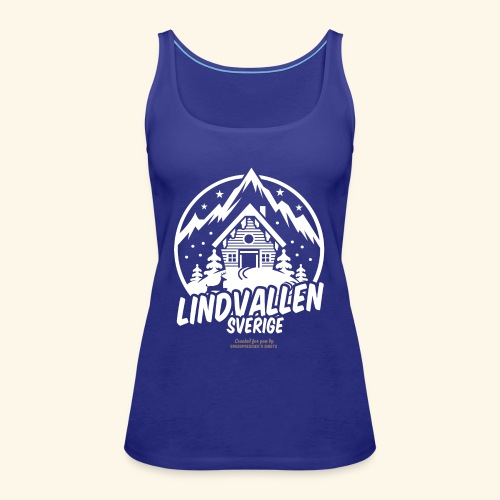 Lindvallen Sälen Sverige Ski Resort T Shirt Design - Frauen Premium Tank Top