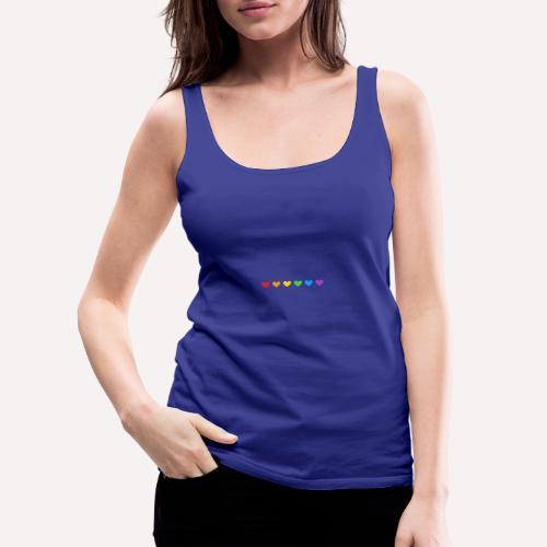 ColourFul Love Hearts Pride Symbol Print Design. - Women's Premium Tank Top