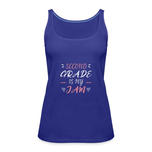 second grade is my jam - Frauen Premium Tank Top