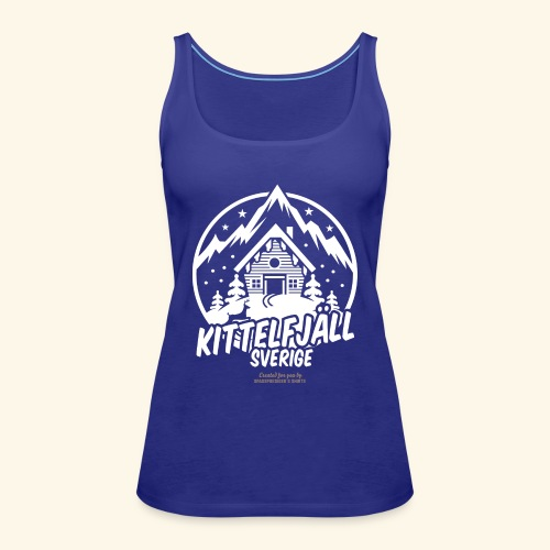 Kittelfjäll Ski Resort T Shirt Design - Frauen Premium Tank Top