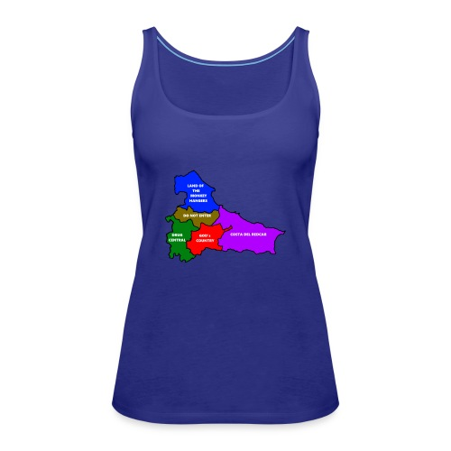 Teesside map - Women's Premium Tank Top