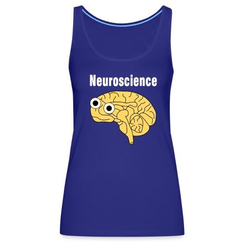 Neuroscience Brain White Text - Women's Premium Tank Top