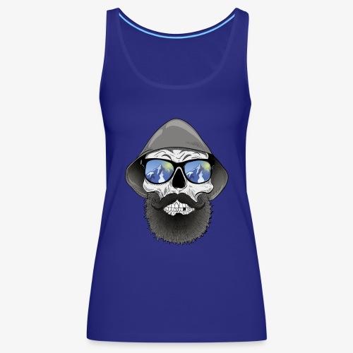 Totenkopf mit sonnenbrille und hut - Frauen Premium Tank Top