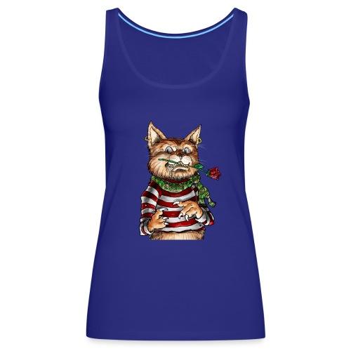 T-shirt - Crazy Cat - Débardeur Premium Femme