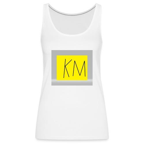KM logo kleding - Vrouwen Premium tank top