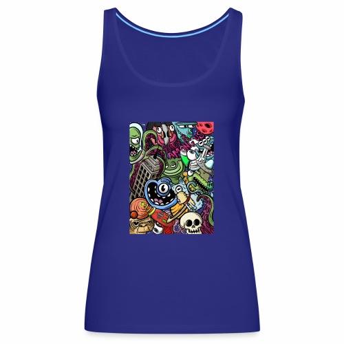 alien attack - Camiseta de tirantes premium mujer